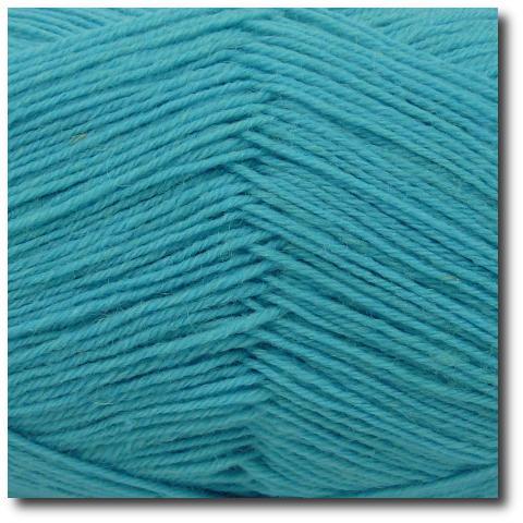 Ponožková příze 4-vrstvá jednobarevná Azurový atol