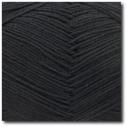 Ponožková příze 4-vrstvá jednobarevná Černá