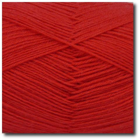 Jednobarevná ponožková příze 4-vrstvá Červená