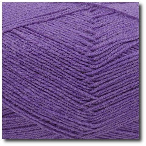 Ponožková příze 4-vrstvá jednobarevná Fialový krokus