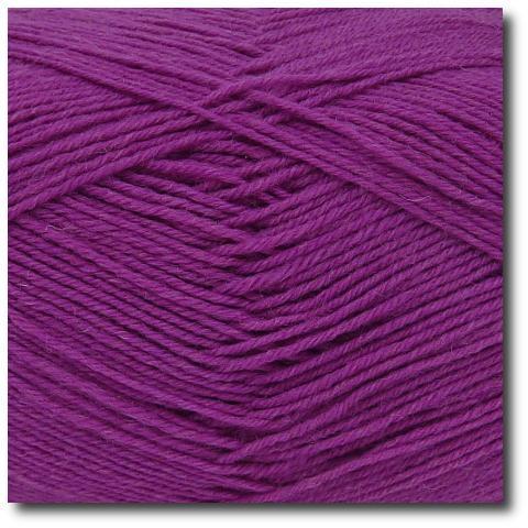 Jednobarevná ponožková příze 4-vrstvá Hyacint