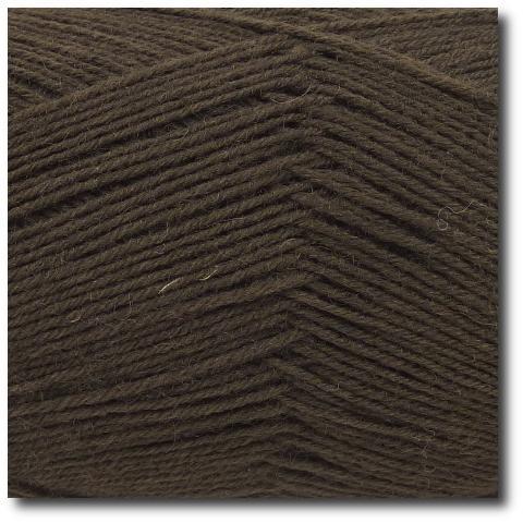 Ponožková příze 4-vrstvá jednobarevná Kakao