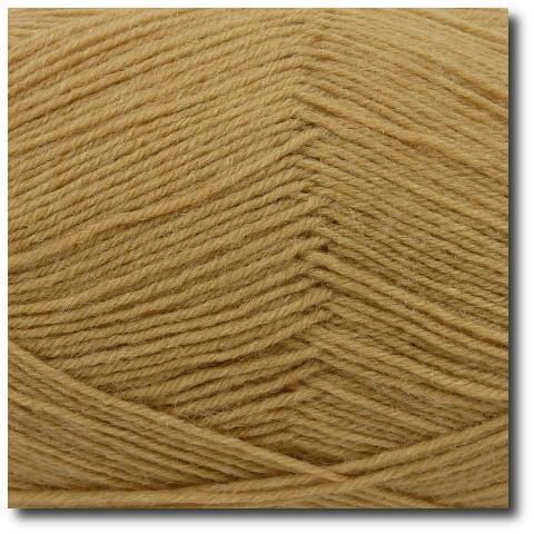 Ponožková příze 4-vrstvá jednobarevná Karamel