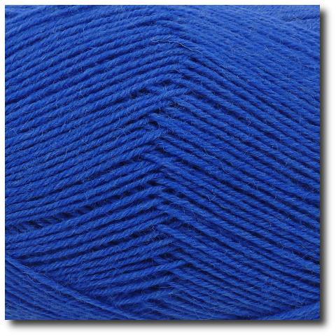 Ponožková příze 4-vrstvá jednobarevná Královská modrá