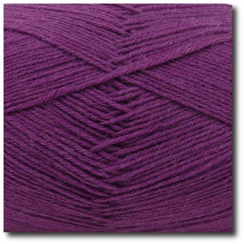 Ponožková příze 4-vrstvá jednobarevná Ostružina