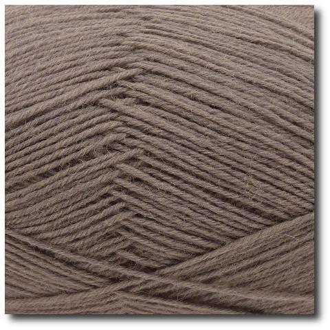 Ponožková příze 4-vrstvá jednobarevná Šedohnědá