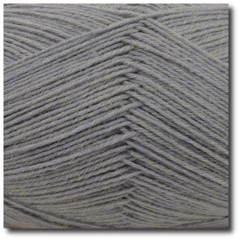 Ponožková příze 4-vrstvá jednobarevná Světle šedá