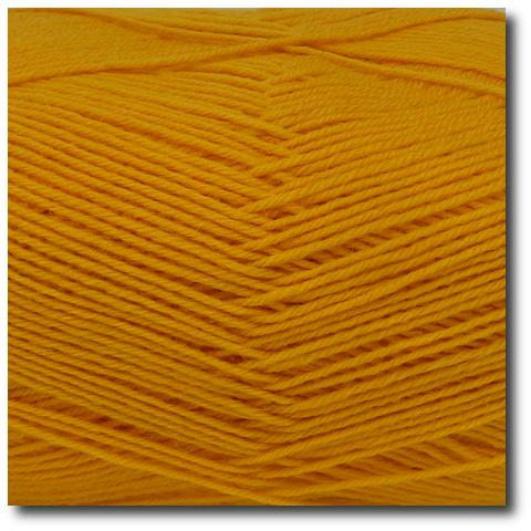 Jednobarevná ponožková příze 4-vrstvá Žlutá