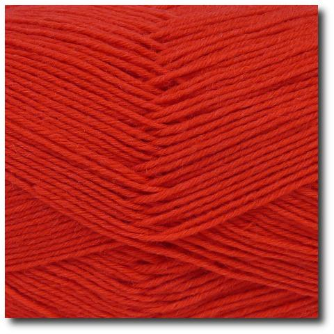 Jednobarevná ponožková příze 6-vrstvá Červená