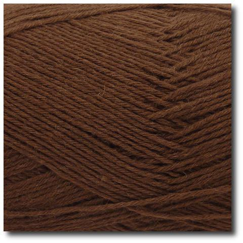 Jednobarevná ponožková příze 6-vrstvá Kakao