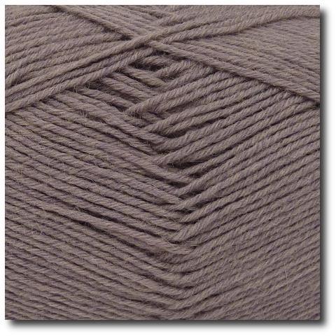 Jednobarevná ponožková příze 6-vrstvá Šedohnědá
