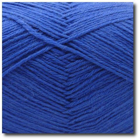 Jednobarevná ponožková příze 6-vrstvá Modrá