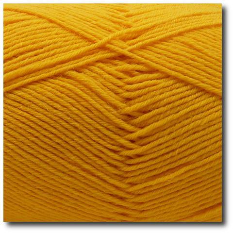 Jednobarevná ponožková příze 6-vrstvá Žlutá