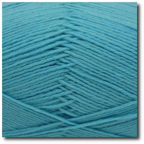 Jednobarevná ponožková příze 6-vrstvá Tyrkys