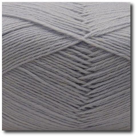 Jednobarevná ponožková příze 6-vrstvá Světle šedá