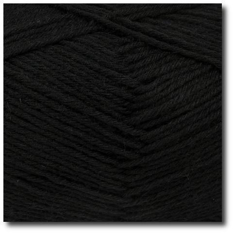 Jednobarevná ponožková příze 8-vrstvá Černá