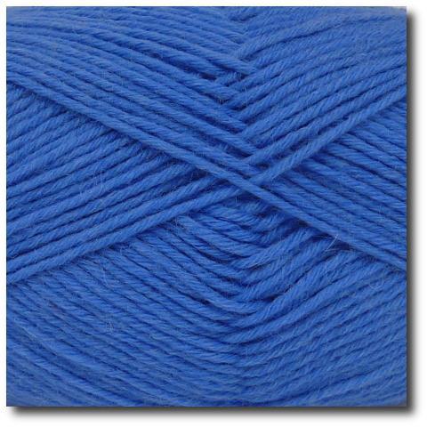 Jednobarevná ponožková příze 8-vrstvá Modrá