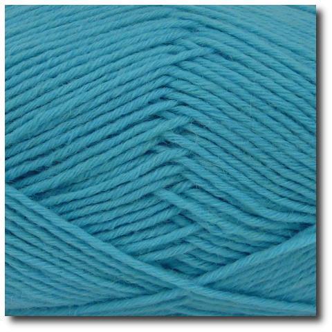 Jednobarevná ponožková příze 8-vrstvá Tyrkys