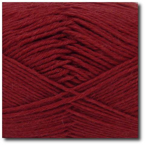 Jednobarevná ponožková příze 8-vrstvá Vínová
