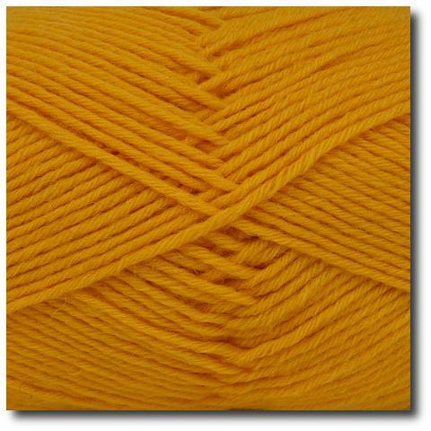Jednobarevná ponožková příze 8-vrstvá Žlutá