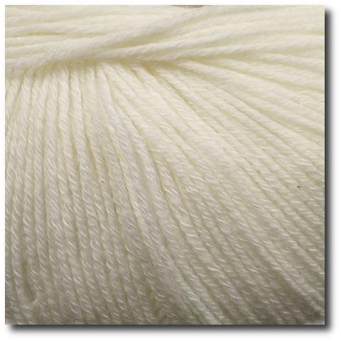 Jednobarevná ponožková příze 4-vrstvá s bavlnou Bílá