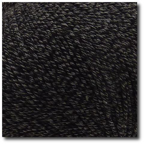 Jednobarevná ponožková příze 4-vrstvá s bavlnou Černá