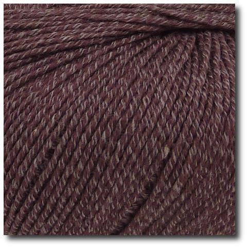 Jednobarevná ponožková příze 4-vrstvá s bavlnou Mauve