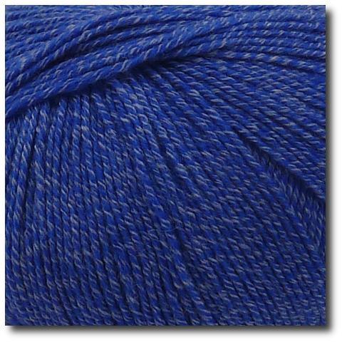 Jednobarevná ponožková příze 4-vrstvá s bavlnou Modrá