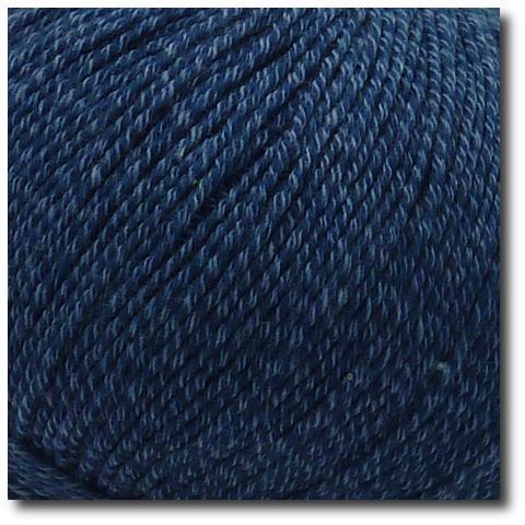 Jednobarevná ponožková příze 4-vrstvá s bavlnou Petrolejová