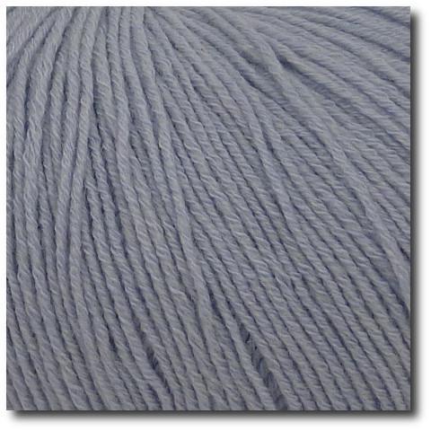Jednobarevná ponožková příze 4-vrstvá s bavlnou Polární šedá