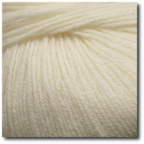 Jednobarevná ponožková příze 4-vrstvá s bavlnou Přírodní