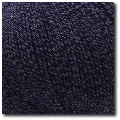 Jednobarevná ponožková příze 4-vrstvá s bavlnou Tmavě modrá