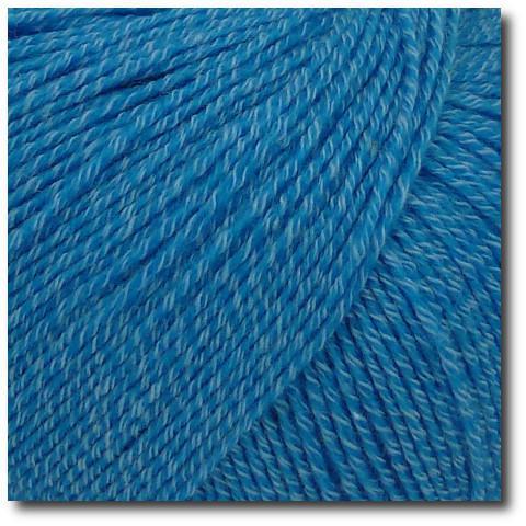 Jednobarevná ponožková příze 4-vrstvá s bavlnou Tmavě tyrkysová