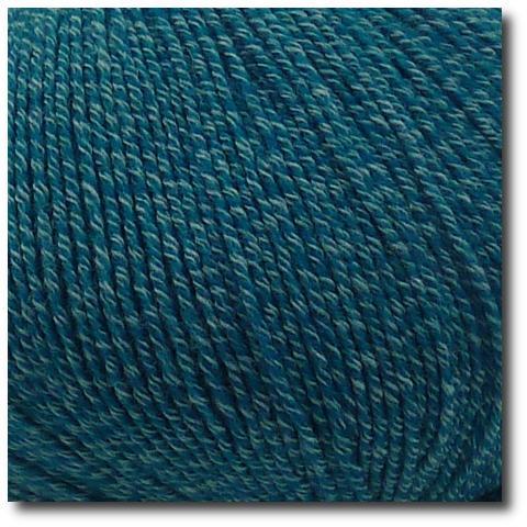 Jednobarevná ponožková příze 4-vrstvá s bavlnou Tmavě zelená