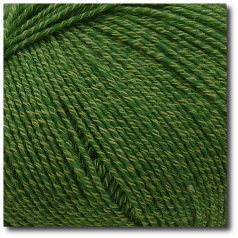 Jednobarevná ponožková příze 4-vrstvá s bavlnou Zelená tráva