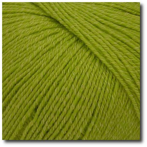Jednobarevná ponožková příze 4-vrstvá s bavlnou Zelené jablko