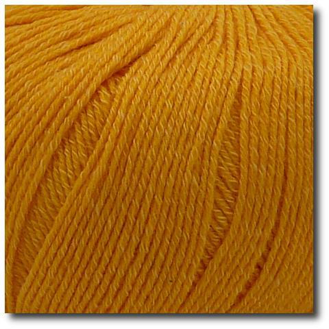 Jednobarevná ponožková příze 4-vrstvá s bavlnou Žluté slunce