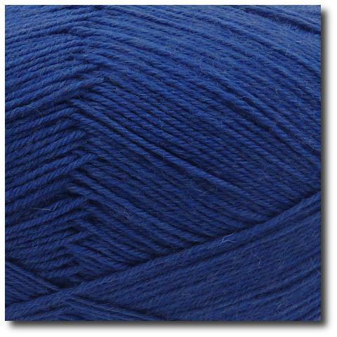 Jednobarevná ponožková příze 4-vrstvá Námořnická modrá