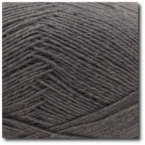 Jednobarevná ponožková příze 4-vrstvá Tmavě šedá