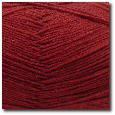 Jednobarevná ponožková příze 4-vrstvá Vínová