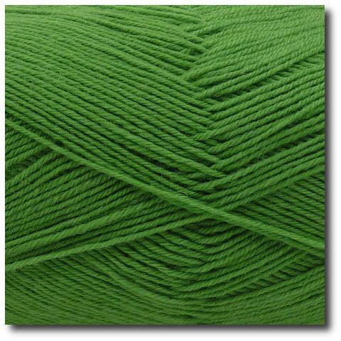 Jednobarevná ponožková příze 4-vrstvá Zelená