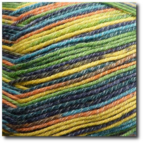 Samovzorovací ponožková příze 4-vrstvá s bavlnou Kolibřík