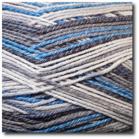Samovzorovací ponožková příze 4-vrstvá s bavlnou Měsíční svit