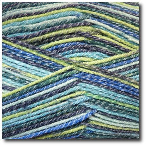 Samovzorovací ponožková příze 4-vrstvá s bavlnou Modřenec