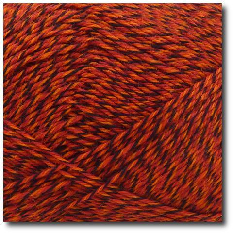 Samovzorovací ponožková příze mouline 4-vrstvá Červená