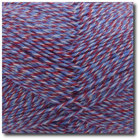 Samovzorovací ponožková příze mouline 4-vrstvá Modro-vínová