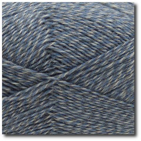 Samovzorovací ponožková příze mouline 4-vrstvá Světle modrá
