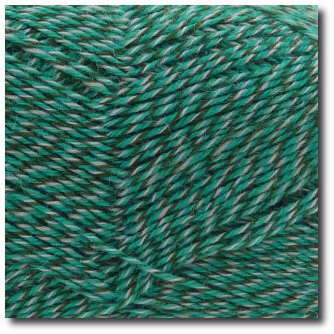 Samovzorovací ponožková příze mouline 4-vrstvá Zelená
