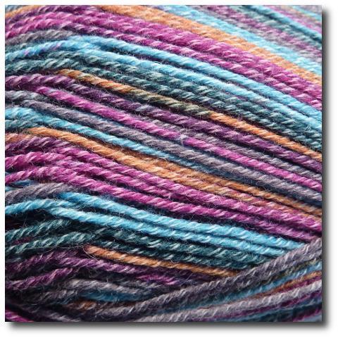 Samovzorovací ponožková příze 4-vrstvá s bavlnou Mystika