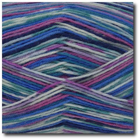 Samovzorovací ponožková příze 4-vrstvá Aurora